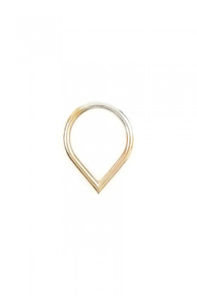 Gold-plated Drop ring