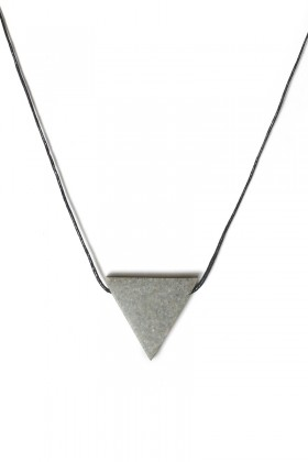 Grey necklace triangle