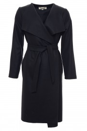 Dark blue woollen coat