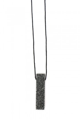 Dark grey necklace rectangle