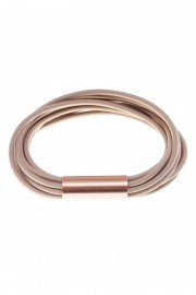Beige bracelet with copper