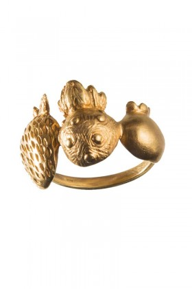 Gold plated ring Berry Mix