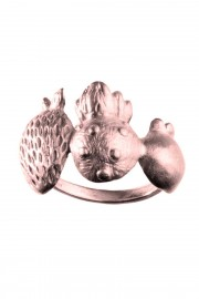 Rose gold plated ring Berry Mix