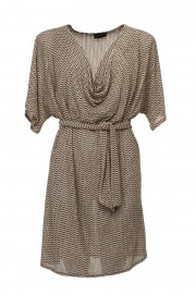 Beige dress with water effect