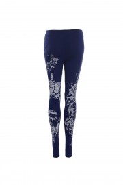 Navy blue painted leggings
