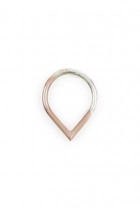 Rose gold plated Drop ring