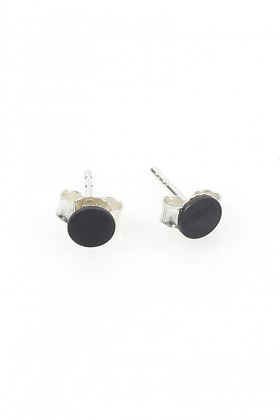 Black Invisible earrings