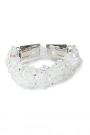 White clip/bracelet with rhinestones