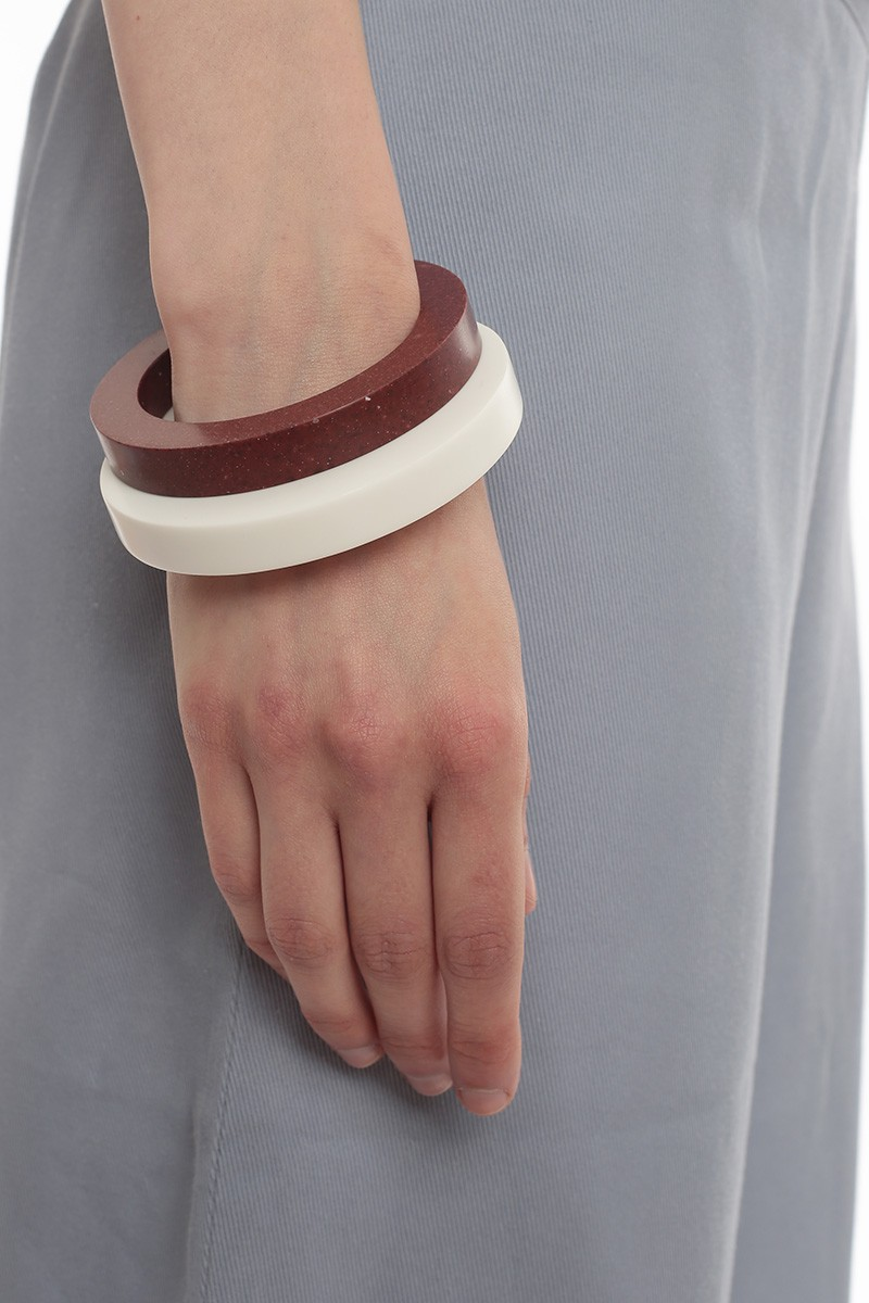 White Thick Bracelet Local Labels