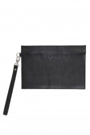 Black zip clutch