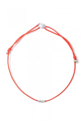 Coral bracelet with cubic zircon