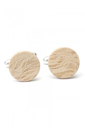 Oak wooden cufflinks