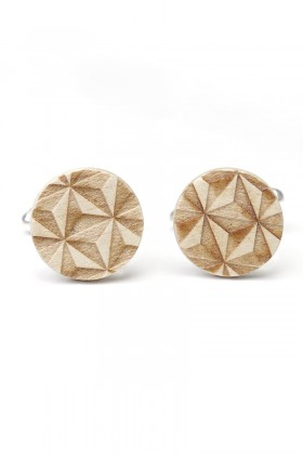 Maple wooden cufflinks