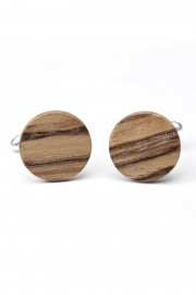 Zebrano wooden cufflinks