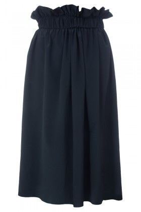 Black waistband midi skirt