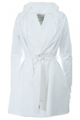 White Softshell coat Jack