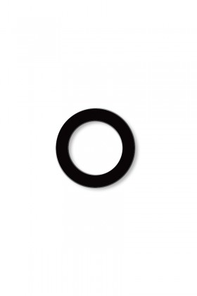 Earring - large circle outline