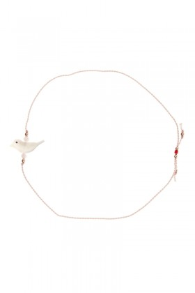 Light pink birdie bracelet