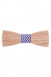 Bow tie Ash & Blue-white ribbon
