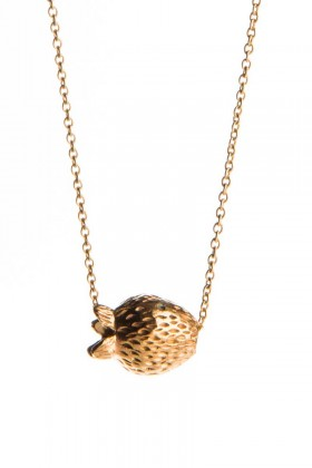 Gold plated necklace Jordgubbar