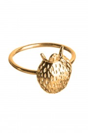 Gold plated ring Jordgubbar