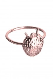 Rose gold plated ring Jordgubbar