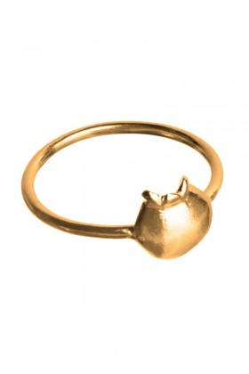 Gold plated ring Blåbär