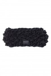 Black knitted merino headband