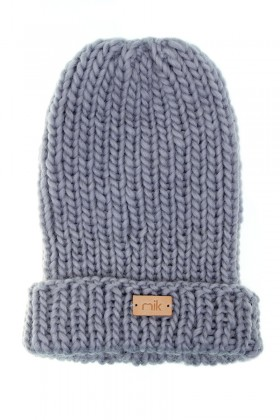 Blue knit wool hat