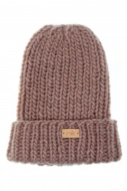 Pink knit wool hat