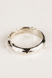 Silver unisex ring Line