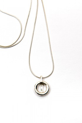 Silver necklace Simple