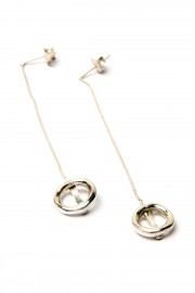 Silver earrings Simple