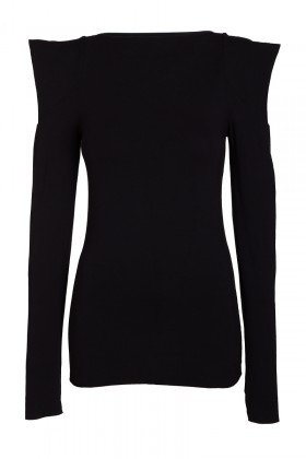 Black top with a long sleeve