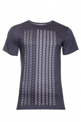 Men dark blue sport t-shirt