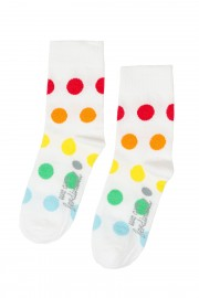 Kids white polka dot socks