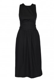 Cotton dress with exposed back