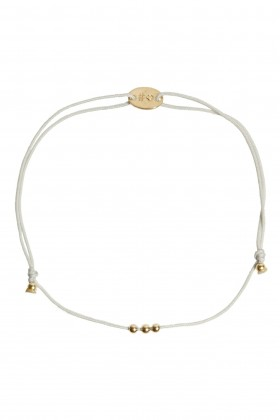 Grey bracelet with golden heart