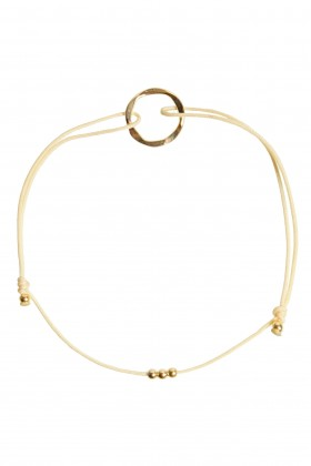 Vanilla bracelet with golden karma