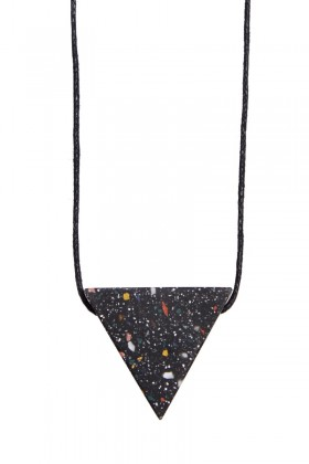 Black necklace triangle
