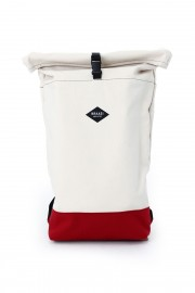 Cream backpack with red bottom Purista Red
