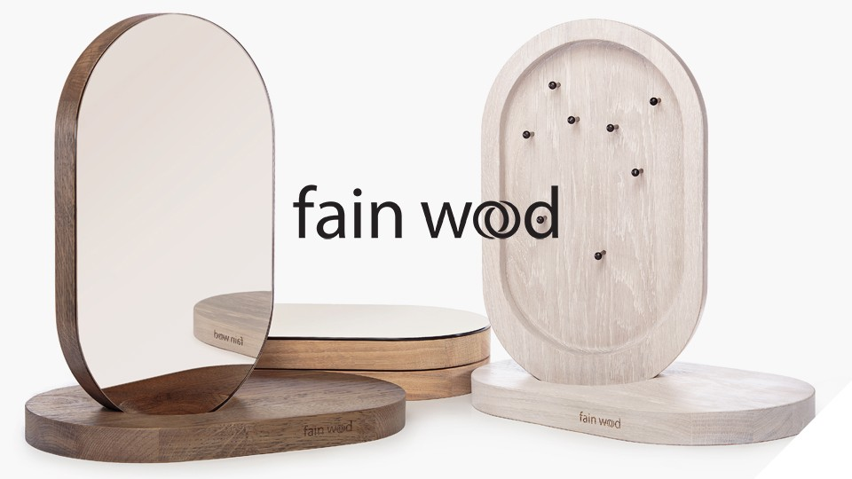 Fain Wood - minimal jewellery stands