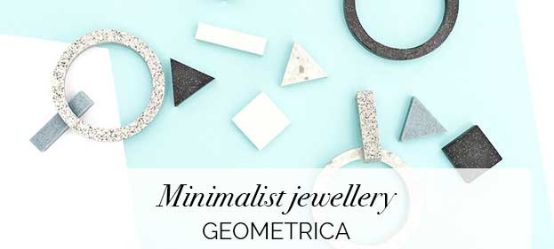 Minimalist jewellery by Geometrica